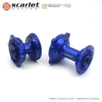 Scarlet Racing  Tromol Depan Belakang KLX 36 Hole Plus Bearing Full CNC BLUE